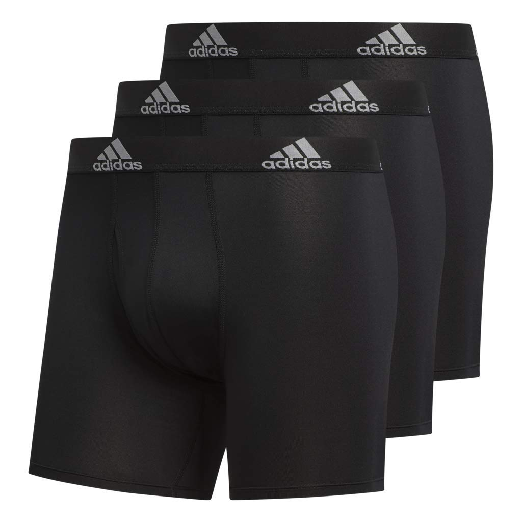 adidas Men's Sport Performance Climalite Boxer Briefs (3 Pack), Black, Medium by adidas