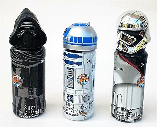 Disney Star Wars Bubbles Toy, Collectible Character Set: R2-D 2 , Darth Vader & Captain Phasma