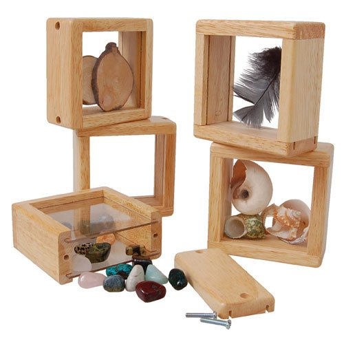 Constructive Playthings Discovery Windows Set of 4 Blocks to Be Filled and Viewed Ages 2-8 Years