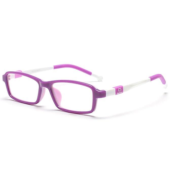ebacaa630f Amazon.com  Fantia Children TR90 Eyeglass Frame Soft Kids Eyewear For Boys  And Girls (1 )  Clothing