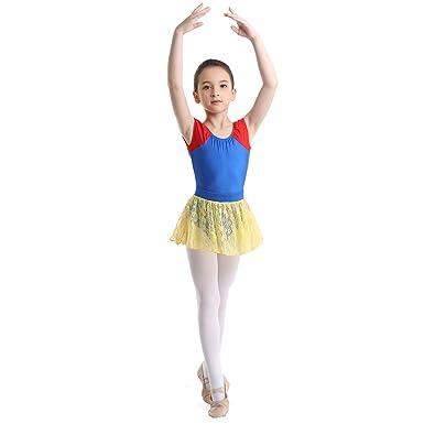 ranrann Maillot de Ballet Clásico con Tutú Falda Encaje para Niña ...