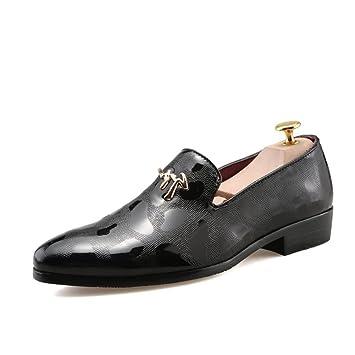Zapatos de los hombres PU Primavera Otoño Mocasines planos Zapatos formales Vestido de punta estrecha Evento