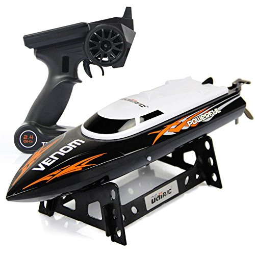 Cheerwing RC Racing Boat for Adults - High Speed Electronic Remote Control Boat for Kids, Black