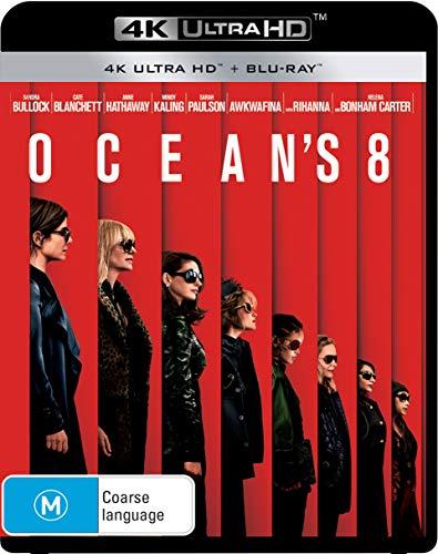 Ocean's 8 4K UHD / Blu-ray   Sandra Bullock, Cate Blanchett   NON-USA Format   Region B Import - Australia