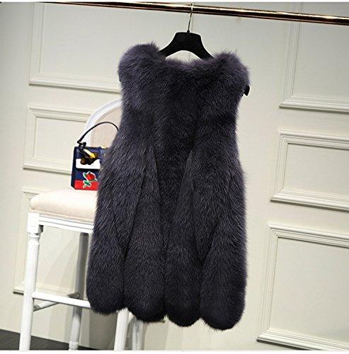 faux Grigio di FOLOBE Womens Rivestimento cappotto scuro del delle della donne del pelliccia inverno di xW0wq8wFpO
