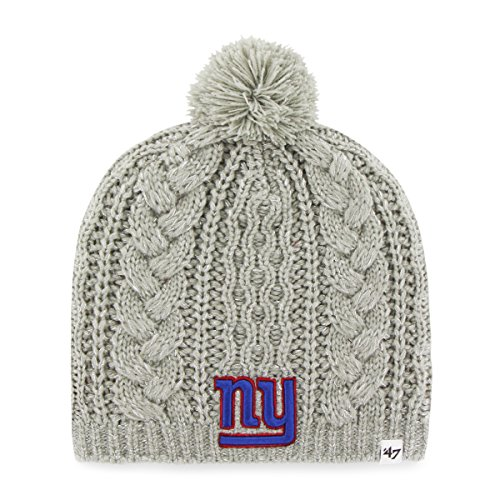 NFL New York Giants Women's Kiowa Beanie Knit Hat, One Size, Gray