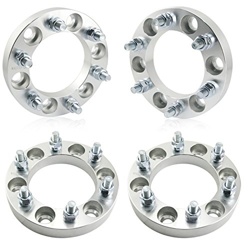 51tJL6PeJdL amazon com 6x5 5 wheel spacers, 12x1 5 studs, 4pc 1\