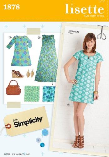 Simplicity 1878 Misses Dresses Sewing Pattern, Size H5 (6-8-10-12-14) (Sew Dress Princess)
