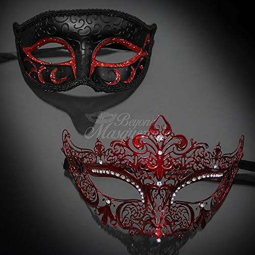 Matching Couple Lover Red Phantom & Musical Venetian Masquerade Mask