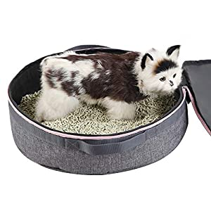 10. Petsfit Round Portable Litter Pan for Cats