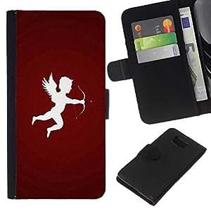 All Phone Most Case / Oferta Especial Cáscara Funda de cuero Monedero Cubierta de proteccion Caso / Wallet Case for Samsung ALPHA G850 // Design Cupid Arrow