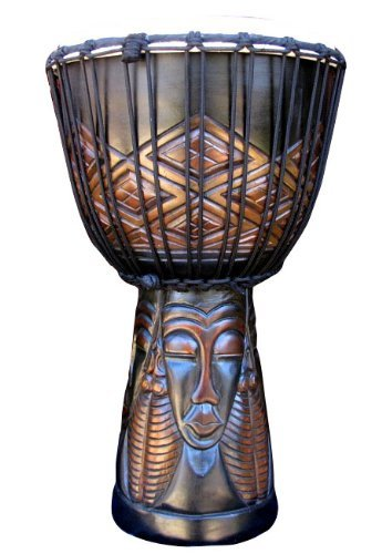 Tribal Faces Djembe Drum-23''-24'' Tall x 11''-12'' Head
