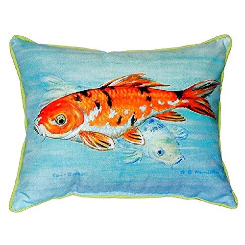 "Betsy Drake SN117 Koi Small Indoor/Outdoor Pillow,11"" X14"" from Betsy Drake"