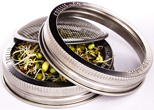 Sprouting Jar Lid Kit With Stands