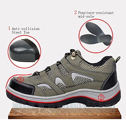 Army Shoes Men's Green Steel Toe Comp Safety Work 2 Shoes Shoes Optimal Izqgwg