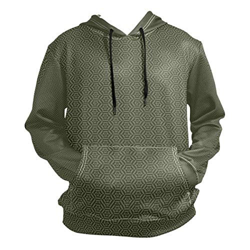 Charlley Lee Men's Hooded Sweatshirt Camouflage Green Classic Fashion Hoodie