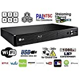 LG BP-350 Region Free Blu-ray Player, Multi region Smart Wifi 110-240 volts, 6FT HDMI cable & Dynastar Plug adapter bundle Package