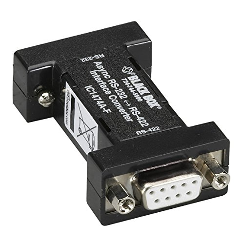Rs 232 Box Interface - Black Box RS232 to RS-422 Interface Bidirectional Converter - 1 x DB-9 RS-232 , 1 x RS-422 Terminal Block - Internal - IC1474A-F