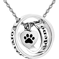 Infinite Memories - No Longer by My Side Forever in My Heart - Urn Necklace for Ashes Cremation Memorial Keepsake for Dad Mom Grandma Grandpa Family Members Dog Cat