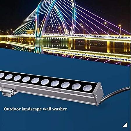 XMIMI Bañador de Pared LED de 24 V, lámpara de línea de iluminación Exterior, Control Interno, Puente de 24 vatios, proyector IP67, luz LED de Aluminio, luz Lineal, luz Blanca cálida/Blanca