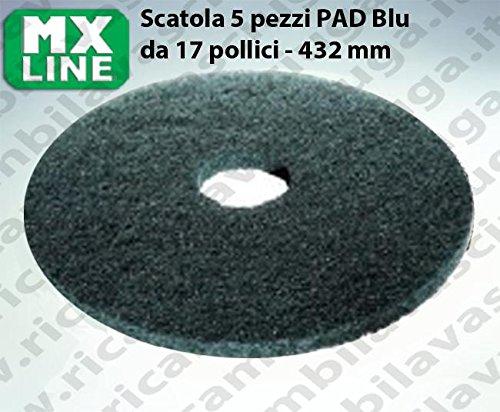 PAD MAXICLEAN 5 PEZZI color Blu da 17 pollici - 432 mm | MX LINE Synclean