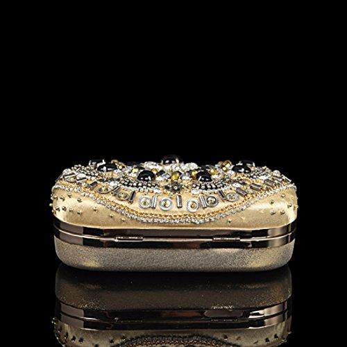Banquet Brodés De Sac XJTNLB Luxe Pearl Brodés Pearl Sac Nuptial Golden De Et Américain Golden Européen Brodé Main EB5CwxS5q