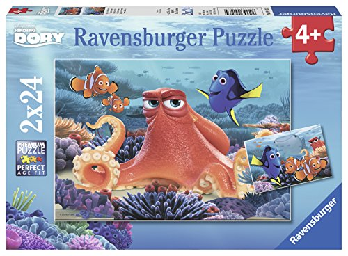 Ravensburger Disney: Finding Dory 2 Pack 24 Piece Jigsaw Puzzle for Kids – Every Piece is Unique, Pieces Fit Together Perfectly by Ravensburger