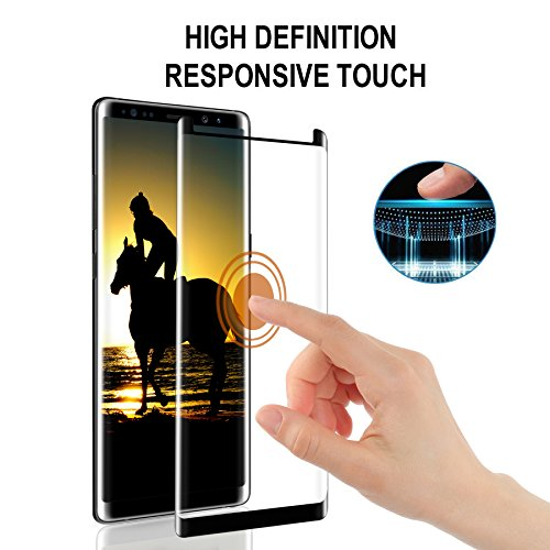 Airror Screen Protector for Note 8, 2-Pack (Case Friendly), Full Coverage HD Clear Anti-Bubble Anti-Scratch Touch Agile Tempered Screen Protector Film