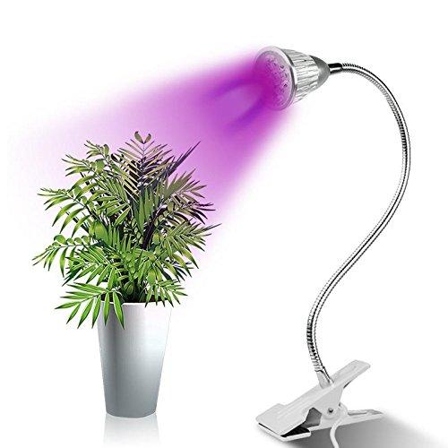 SJP Light LED Grow Light, Plant Grow Light with Degree Adjustable Gooseneck for Indoor Plants, Greenhouse, Hydroponics, Office