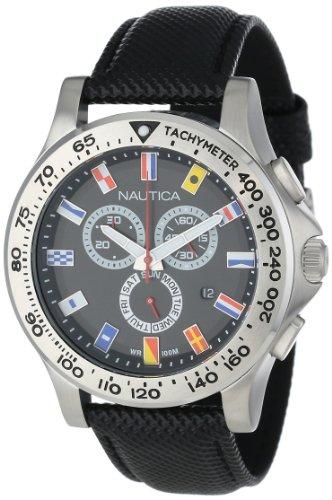 Nautica Men's N19595G NST 600 Chrono Flag Classic Analog with Enamel Bezel Watch