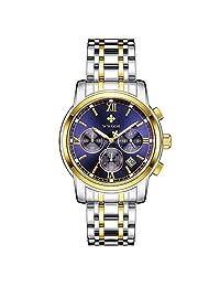 0e3dc1d14ad5 WWOOR Relojes Hombre Relojes de Pulsera Cuarzo Analógico Reloj Acero  Inoxidable Hombre Cronógrafo ...