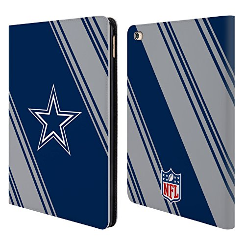 Official NFL Stripes 2017/18 Dallas Cowboys Logo Leather Book Wallet Case Cover For Apple iPad Air - Port Dallas Air