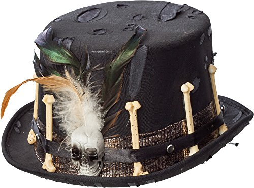 Adults Ladies Mens Steampunk Halloween Voodoo Dr Death Fancy Dress Costume Outfit Hat -