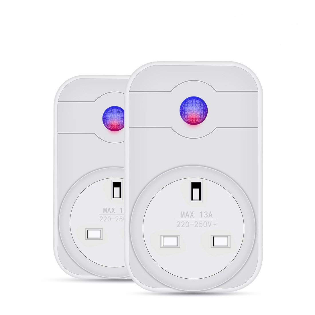 Leyuee Wi-Fi Smart Plug Compatible with Alexa Google Home Echo Wireless Smart Socket Remote Control Your Devices for iPhone Android Devices (UK Plug) (2 Pcs)