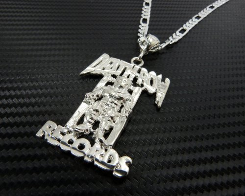 Jotw silver death row records pendant with a 24 inch 5mm figaro jotw silver death row records pendant with a 24 inch 5mm figaro chain necklace good quality amazon jewellery aloadofball Choice Image