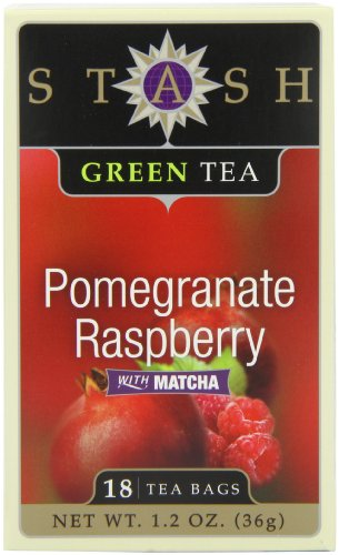 Pomegranate Raspberry (Stash Tea Pomegranate Raspberry Green Tea, 18 Count Tea Bags in Foil (Pack of 6))