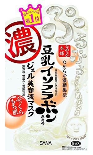 Sheets Mask Essence 5 (NAMERAKA Honpo Sana Isoflavone Gel essence liquid mask 5 sheets)