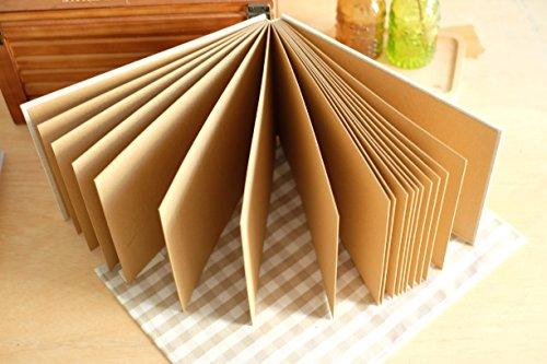 Paper Photo Album (Plain Burlap Hessian DIY Photo Album / Sketchbook / Signature Book (Kraft Brown)