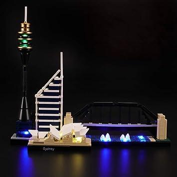 LIGHTAILING Conjunto de Luces (Architecture Sydney) Modelo de Construcción de Bloques - Kit de luz LED Compatible con Lego 21032 (NO Incluido en el Modelo): Amazon.es: Juguetes y juegos