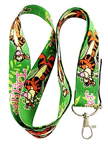 TIGGER WINNIE THE POOH LANYARD STRAP FOR SPORTS JOB TICKETS BADGE, KEYS KEY CHAIN, PURSE, BACKPACK, PETS, (Pooh Key)