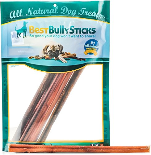 100% Natural 12-inch Bully Sticks by Best Bully Sticks (8oz. Bag) (Bully In 12 Sticks)