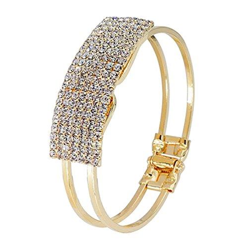 Ameesi Elegant Women Bangle Wristband Bracelet Crystal Cuff Bling Lady Gift - (New Elegant Ladies Crystal)