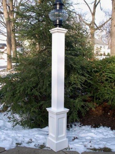 Azek Lantern Post -  New England Woodworks, AZEKLP6672