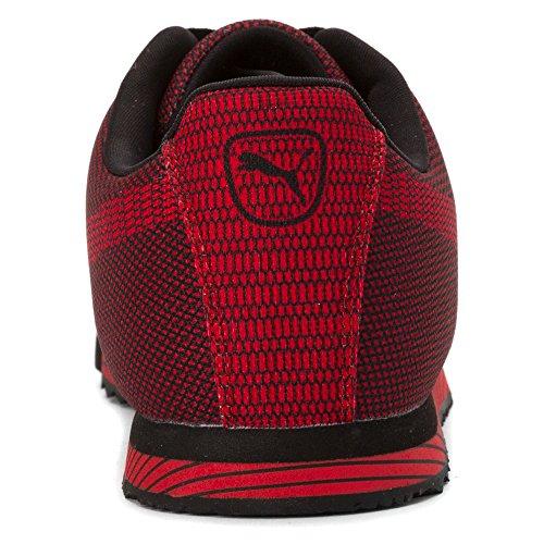 Sneakers Puma Uomo 2/1 Roma Tessuto Stampa Nero / Rosso Ad Alto Rischio