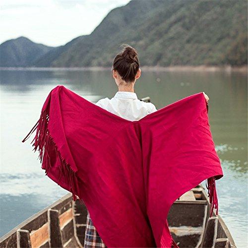 ZHANGYONG Cape Mantel Der Herbst Und Winter Farbe Split Dicken Warmen Schal  Und Weiblichen Geschenk 175