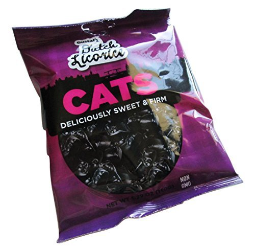 Gustaf's Dutch Licorice Cats, sweet & firm 150g - 5.29oz (1 Bag) -