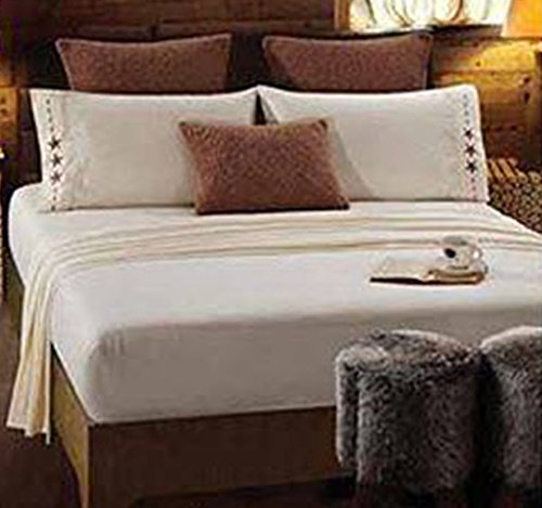 SouthWestern Star Embroidered Bedsheet set-KING-4 pieces, deep pocket Super Soft Microfiber
