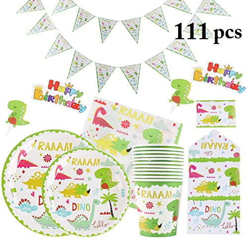 - Coxeer Party Supplies Set Disposable Dinnerware Set Tableware Kit for Kids Birthday
