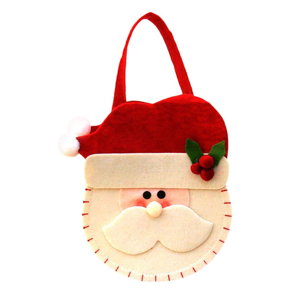 Yevison Xmas Gifts Bag, Soft Cloth Christmas Style Fuirt Apple Candy Storage Pouch Wrapping Pocket Xmas Party Decoration Gift for Women Girls Premium Quality