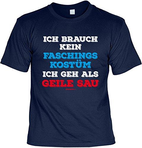 T-Shirt - Faschings-Shirt Geile Sau - das besondere Shirt mit coolem Print als tolles Outfit oder ideales Geschenk zum Karneval / Fasching